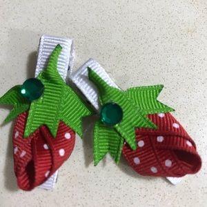 Strawberry 🍓 hair pins